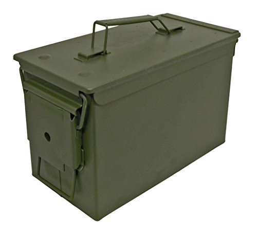 Sportsman Series ABOX Men's Army Style Metal Storage Ammo Box, Green (Ammo Boxes Metal compare prices)