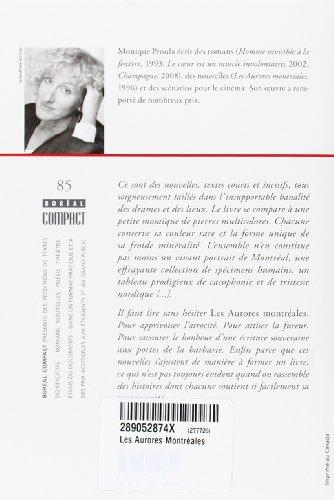 les aurores montreales+dissertation Les aurores montréales éditeur : editions du boréal « ce sont des nouvelles, textes courts et incisifs, tous soigneusement taillés dans l'insupportable banalité des drames et des lieux.