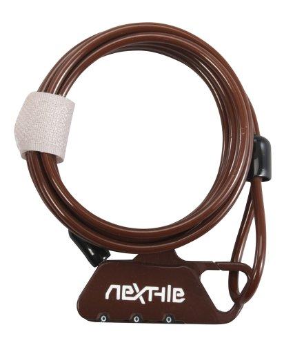 Nextyle(ネクスタイル) コンパクトダイヤル式ワイヤーロック ブラウン NT-K st