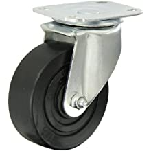E.R. Wagner Americaster Plate Caster, Swivel, Dust Cover, Polyolefin Wheel