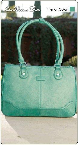 Namaste Caribbean Blue Monroe Handbag Shoulder Bag Tote by Namaste