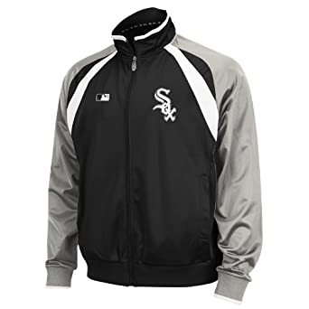 MLB Chicago White Sox Thermabase Long Sleeve Full Zip Fleece Track Jacket by Majestic