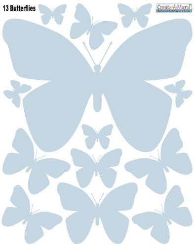 Butterfly Wall Appliques' Baby Blue Removable Decals **Special Price - 1