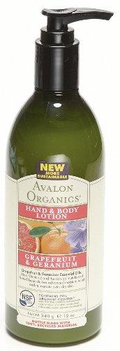 AVALON ORGANICS アバロンオーガニクス hand-0 - 0 grapefruit body lotion - geranium 340 g