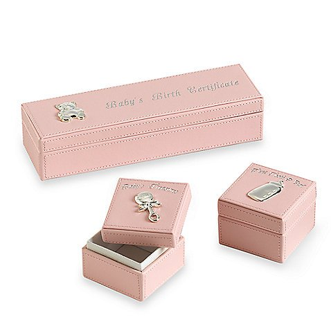 Baby Essentials Keepsake Boxes Pink - 1