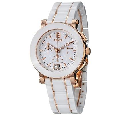Fendi Women's F672140 Ceramic Stainless Steel and Ceramic Bracelet Watch