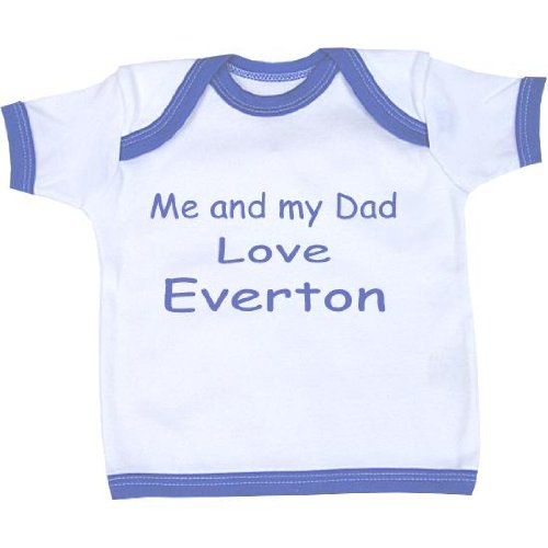 Me and my Dad Love Everton baby T Shirt Newborn-24 months in 9 Colours