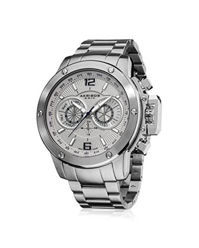 Akribos XXIV Men's AK604WT Multifunction Silver-Tone Watch
