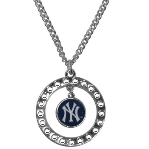 MLB New York Yankees Rhinestone Necklace at Amazon.com