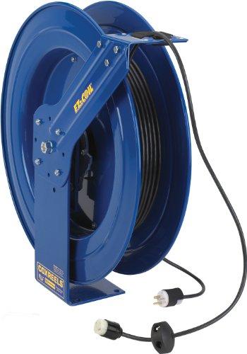 Coxreels Ez-Coil Safety Series Power Cord Reel - 100 Ft., Model# Ez-Pc24-0012-A