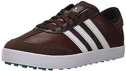 adidas Men\'s Adicross V WD Golf Spikeless, Brown/FTWR White/EQT Green S16, 7.5 W US