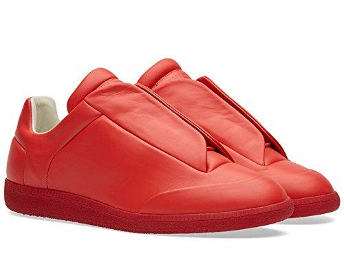 Sneakers basse Maison Margiela uomo in pelle rosso - Codice modello: S37WS0263 SX8966 312 - Taglia: 41 EU