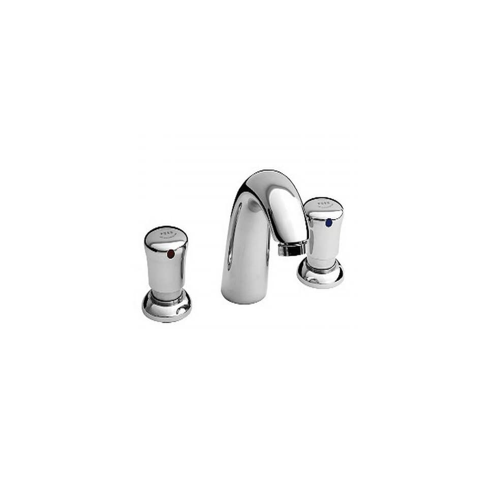American Standard 1340.825.002 Metering Widespread 1.5 Gpm Faucet with Vandal Resistant Handles Less Drain, Polished Chrome