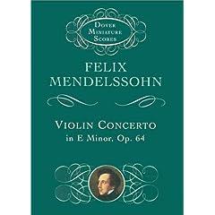 【クリックでお店のこの商品のページへ】Violin Concerto in E Minor (Dover Miniature Music Scores): Felix Mendelssohn, Music Scores: 洋書