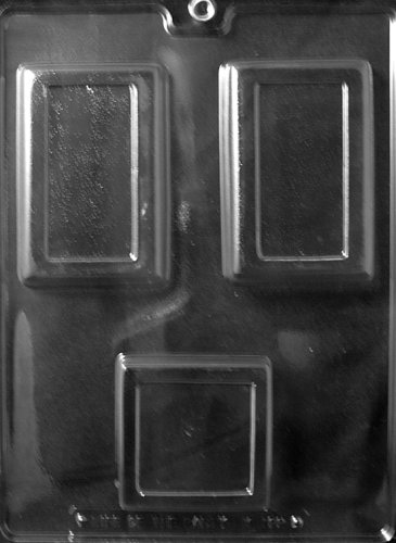 1 SQUARE/2 RECT. BAR Miscellaneous Candy Mold Chocolate