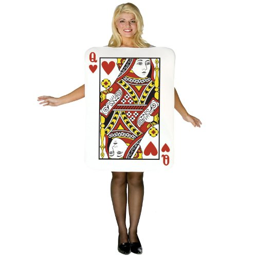 Std Size Adult Queen of Hearts Playing Card Costume (Queen Of Hearts Card Adult Costume)