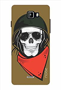 Noise Ghost Rider Brown Printed Cover for Micromax Canvas Nitro A311