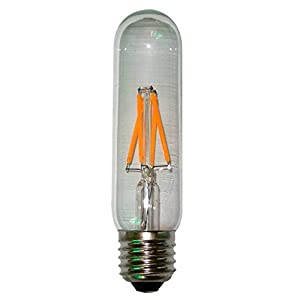 ONEPRE Edison LED Bulb 4W, Dimmable, E26/E27 Medium Screw Base, Tubular Style LED Vintage Antique Filament Bulb, Super Warm White, 2700K