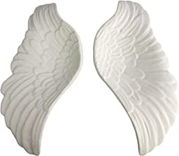 HomArt Pair of Ceramic Wings, White