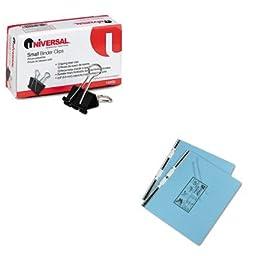 KITUNV10200UNV15441 - Value Kit - Universal Pressboard Hanging Data Binder (UNV15441) and Universal Small Binder Clips (UNV10200)