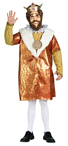 Adult-Costume Adult Deluxe Burger King Costume Halloween Costume