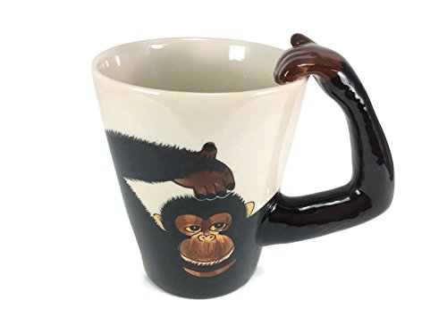 Mug Monkey Chimpanzee Enamel Cartoon Painted Milk Glass Coffee cup Cute Mugs Mug for Kid (Dragon Ball Z Metal Cooler compare prices)