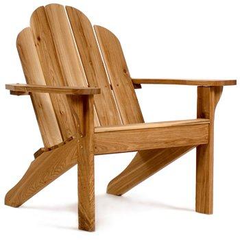 Chinese Oak Wood Outdoor Patio Adirondack Chair