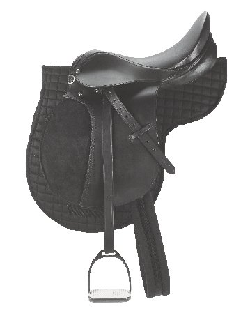 Ledersattel-Set 17,5 Zoll Pferde-Sattel Vielseitigkeit/