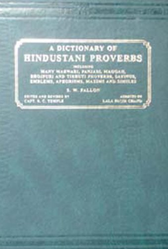 Dictionary of Hindustani Proverbs