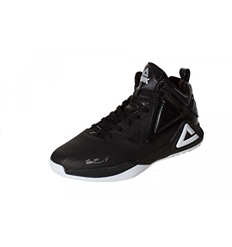 Peak Sport Europe - PEAK Sport Europe Basketballshoe TP1 Tony Parker Black-White, Scarpe da Basket, unisex, nero (black/white), 40