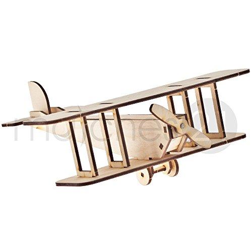 Propellerflugzeug-Doppeldecker-Flugzeug-3D-Holz-Steckbausatz-Modell-fr-Kinder-Bastelset-Bausatz-ab-7-Jahren