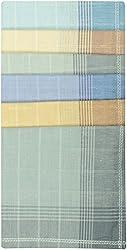 Reddington Men's Cotton Handkerchief - Pack of 6 (Multi-Coloured)