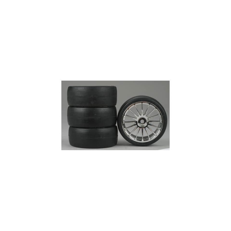 Dynamite 16 Spoke Chrome Wheel, Slick (4)