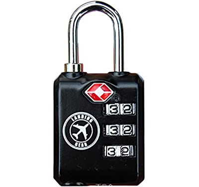 TSA Lock Heavy Duty 3 Digit Combination Luggage Padlock Travel Security Approved.
