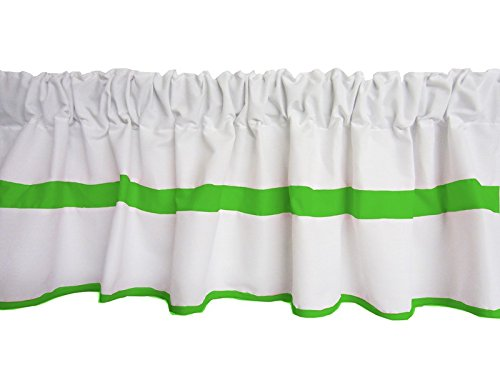 Baby Doll Modern Hotel Style Window Valance, Green Apple