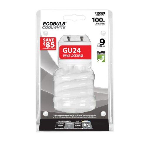 Feit BPESL23TM/GU24/41K 23-watt Twist Cool White GU24 Base 100-watt Equivalent Light (Gu24 Bulb compare prices)