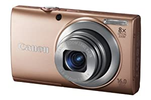 Canon PowerShot A4000 IS Digitalkamera (16 Megapixel, 8-fach opt. Zoom, 7,6 cm (3 Zoll) Display, bildstabilisiert) rosé