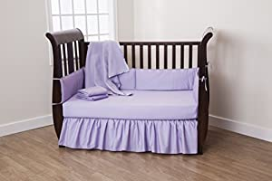 American Baby Company 5 Piece Cotton Percale Crib Set, Lavender