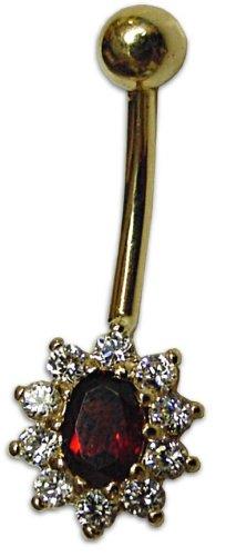 14kt Gold Flower Body Jewelry
