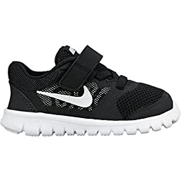 New Nike Baby Boy\'s Flex 2015 RN Athletic Shoe Black/White 5