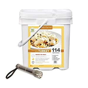 114 Servings Emergency Freeze Dried Diced Turkey by Ready Project