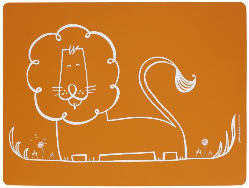 modern-twist Baby Meal-Mat Silicone Placemat, Dandy Lion, Orange