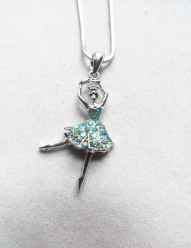 Accessory Silver - Plated Ballerina Pendant Necklace