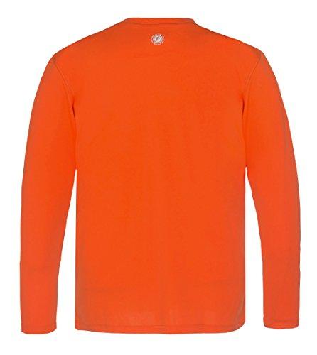 """Time To Run Men's Favourite Long Sleeve Running Gym T Shirt Top Large 42""""- 45"""" Orange"""