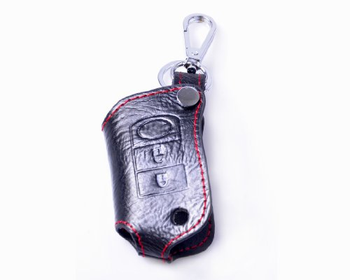 Genuine Leather Remote Key Chain Holder Case Cover Fob For Land Rover Range Rover Sport Discovery 3 Lr3 2B