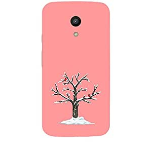 Skin4gadgets Winter Tree Colour - India Red Phone Skin for MOTO G 2ND G