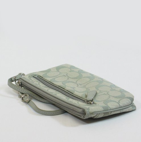 Coach Signature Sutton Capacity Wristlet Clutch Bag 47496 Grey