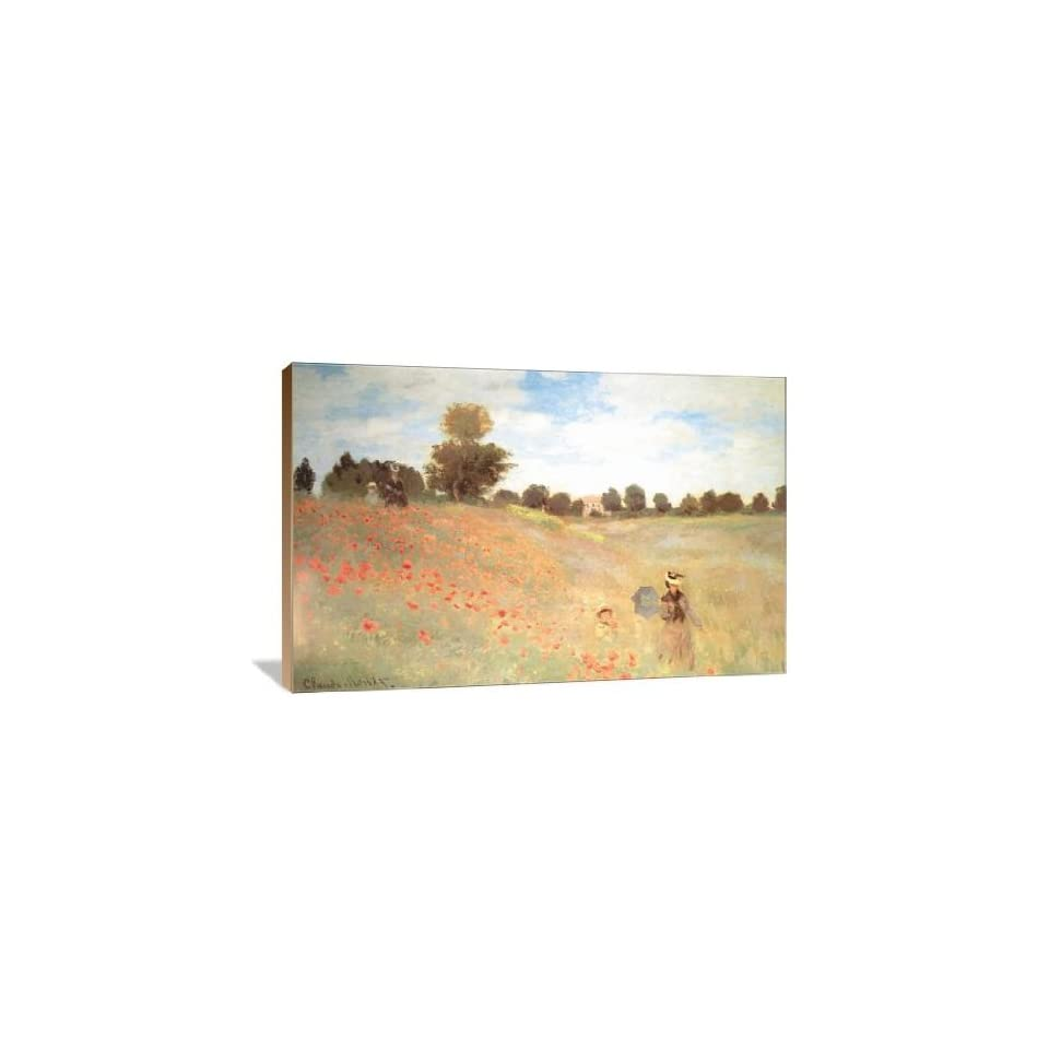 Les Coquelicots   Gallery Wrapped Canvas   Museum Quality  Size 48 x 32 by Claude Monet