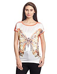 Madame Women's Body Blouse Top (M1411732_Orange_X-Large)