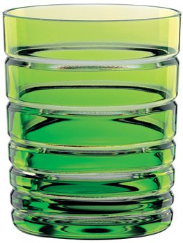 Nachtmann Skin Tumbler/Double Old Fashioned Glass, Reseda/Lime Green